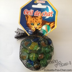Lot de 20 Billes Oeil de Chat