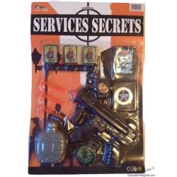 Panoplie Services Secrets avec Accessoires