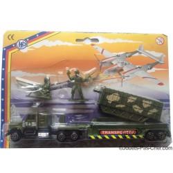 Camion Armée Métal 23cm