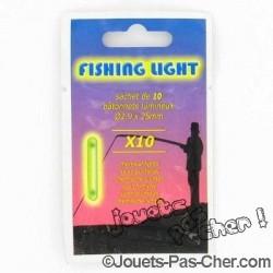 10 Bâtonnets Lumineux Fluo