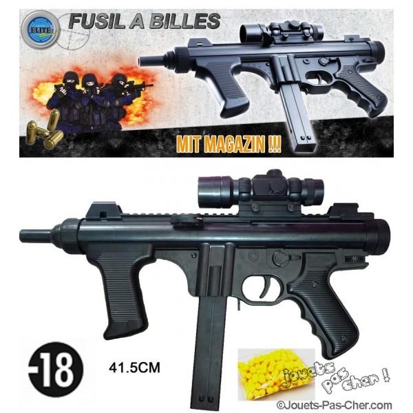 fusil billes 41 5 cm prix discount jouets pas. Black Bedroom Furniture Sets. Home Design Ideas