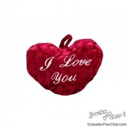 "Peluche Coeur ""I Love You"" 25cm"
