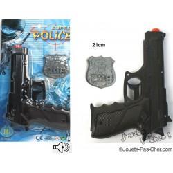 Pistolet Bruit Police avec Badge