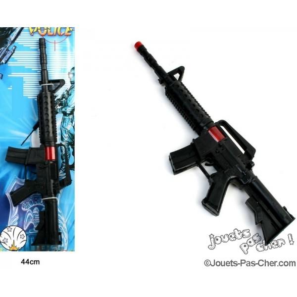 fusil mitrailleur avec bruitages prix discount jouets pas cher. Black Bedroom Furniture Sets. Home Design Ideas